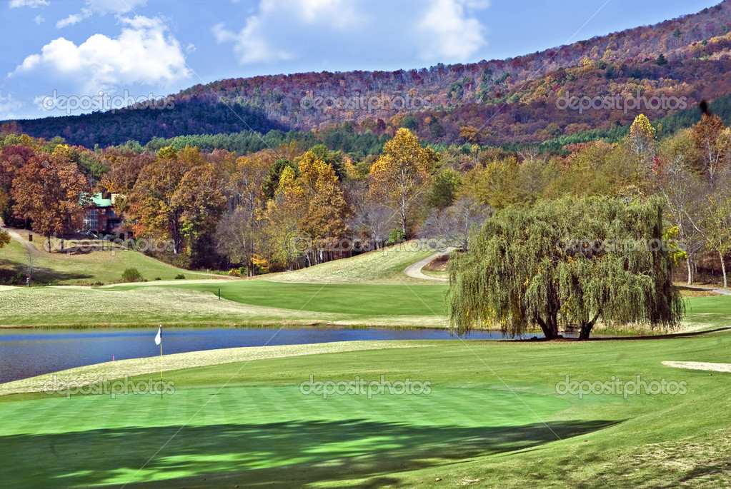 Beautiful Golf Course in Autumn