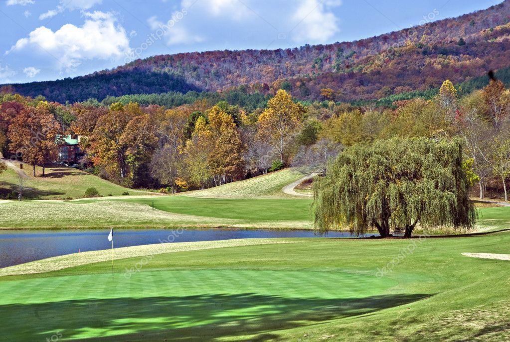 Beautiful Golf Course in Autumn