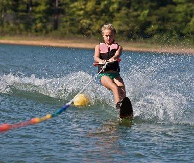 Young Girl Water Skiing
