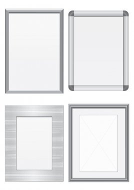 Vector illustration set of metal frames.