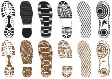 Vector illustration set of footprints.