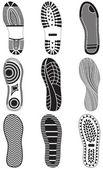 Fényképek vektoros illusztráció készlet lábnyomok