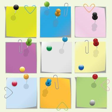 Multicolored note paper