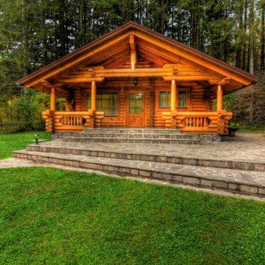 Holiday apartment - wooden cottage in forest