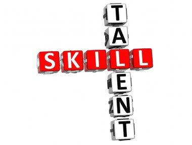 Skill Talent Crossword