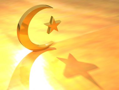 Gold Islam Sign