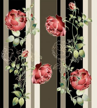 Seamless background from a flowers ornament, fashionable modern wallpaper o