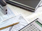 účetní tabulka.