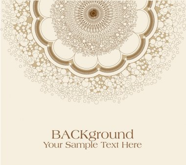 Vector beige background with ornament