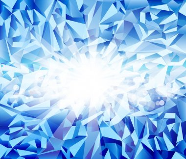 Vector ice blue background