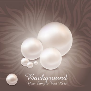 Large vector on a luxurious pearl background with patterns