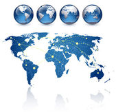 Fotografie World map and globes