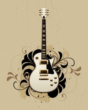 Electric guitar with design elements