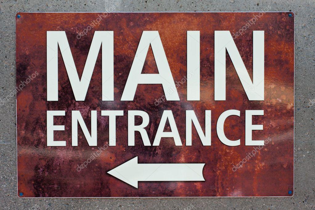 Main Entrance Sign