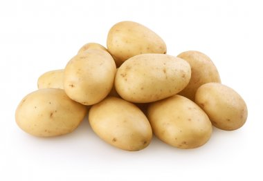 Potatoes with clipping path