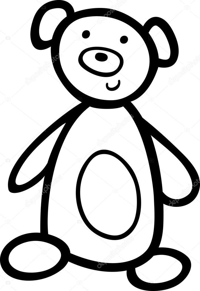 oso de peluche para colorear libro — Archivo Imágenes Vectoriales ...