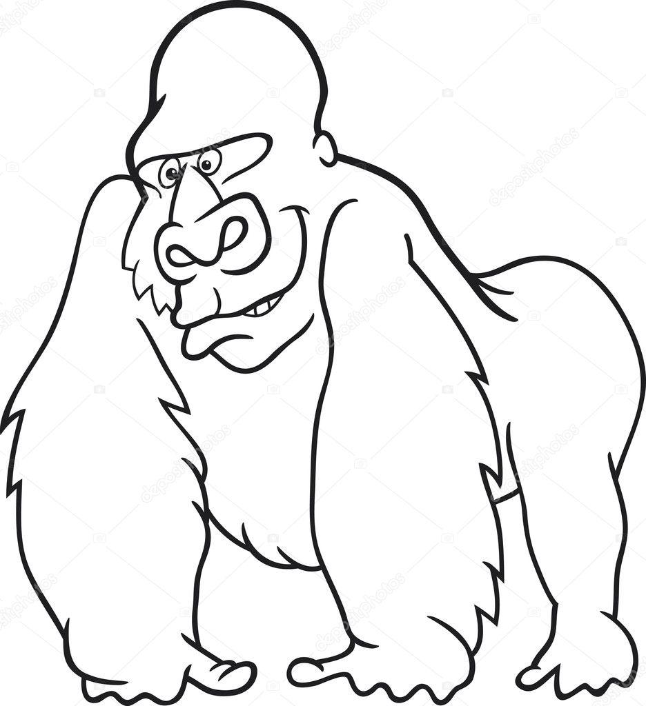 Goril Boyama Kitabı Için Stok Vektör Izakowski 5668251