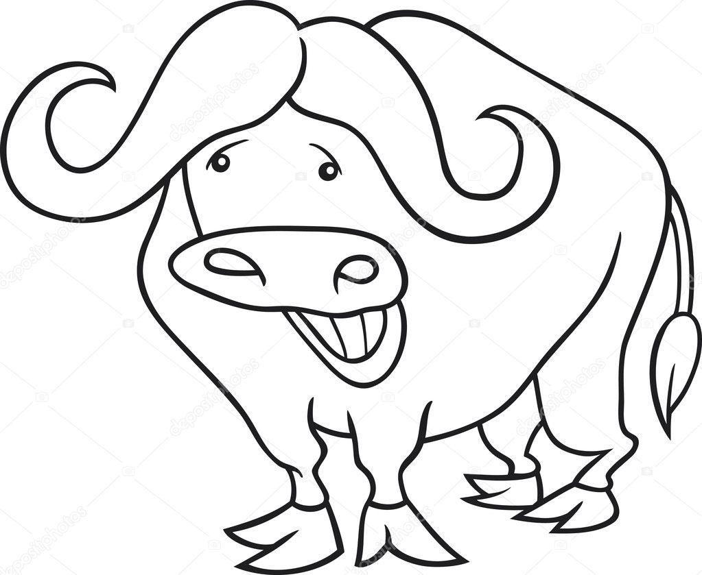 buffalo for coloring book stock vector