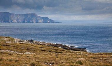 "Картина, постер, плакат, фотообои ""побережье острова ачилл пейзаж ретро"", артикул 6241865"