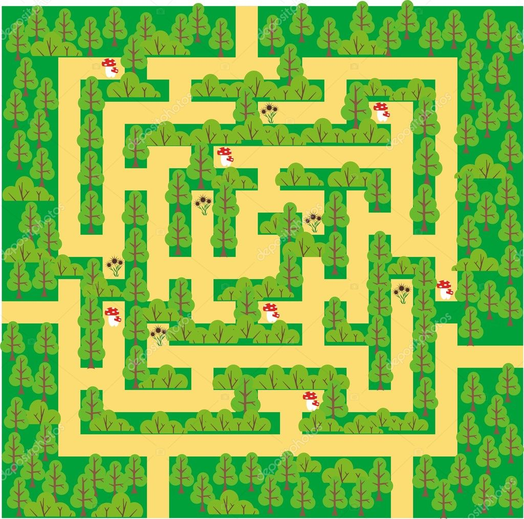 Green forest maze