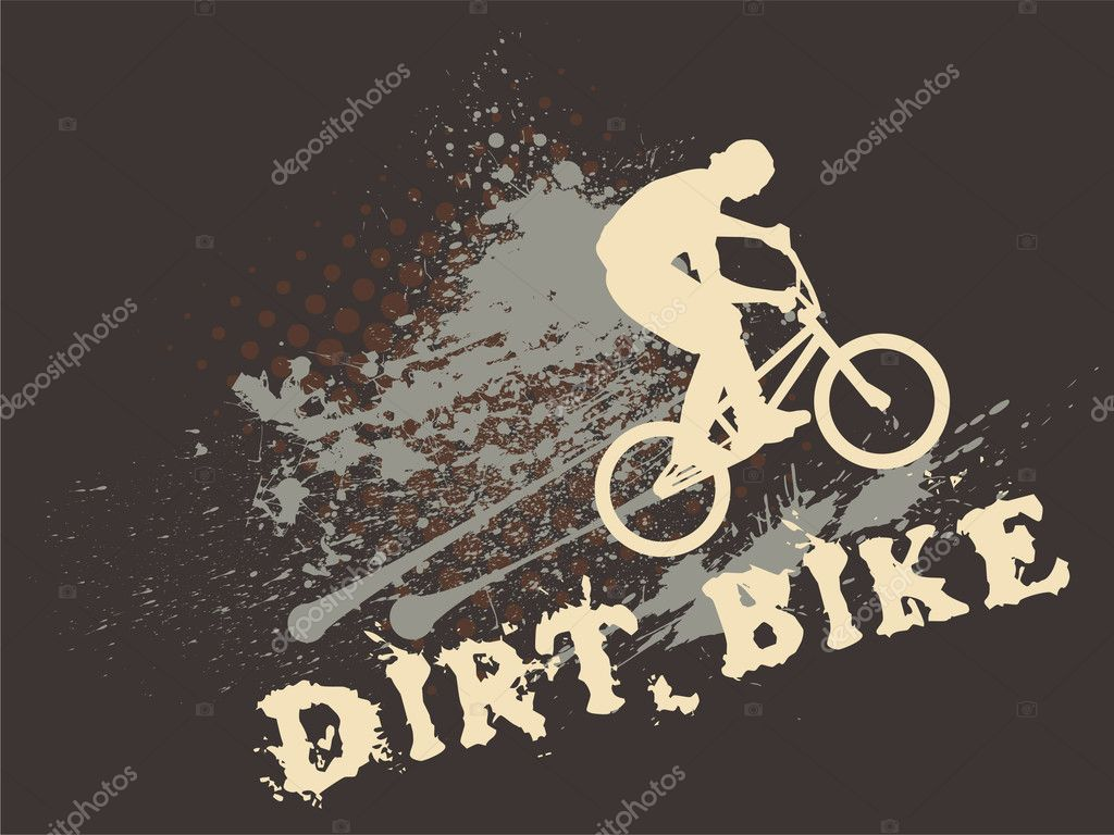 Motocross Bikes Wallpaper Dirt Bike Stock Vector