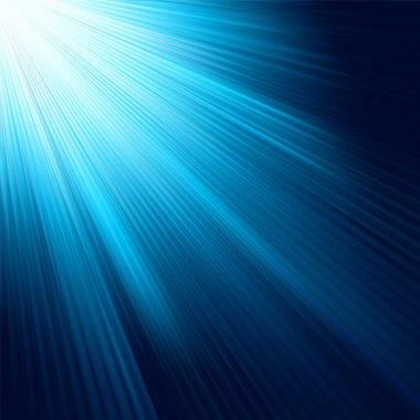 Blue light burst. EPS 8