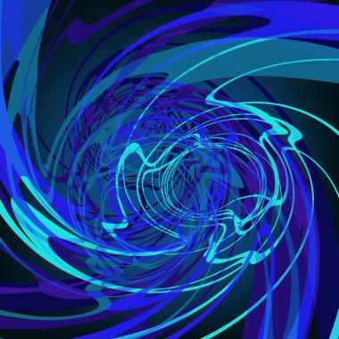 Blue abstract stylish fantasy background. EPS8
