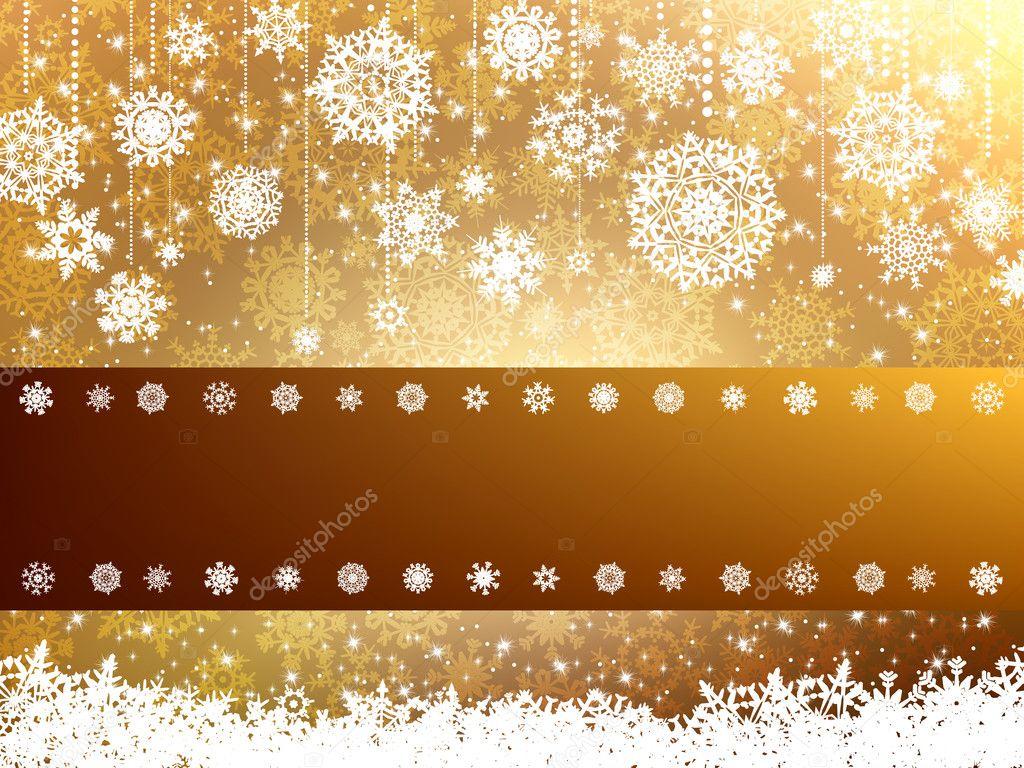 Elegant Christmas Background With Snowflakes Stock Vector: Elegant Christmas Background. EPS 8