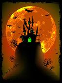 Fotografie strašidelné halloween vektor s magickou opatství. EPS 8