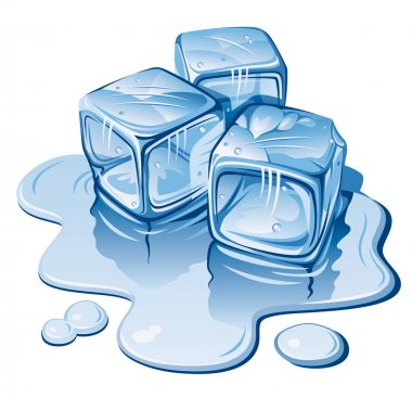 Stylized ice cubes on white background. Vector illustration stock vector