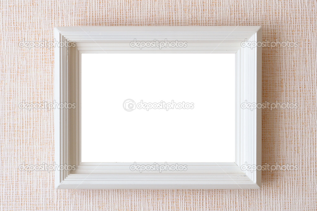 antiguo marco vacío para el cuadro en la pared — Fotos de Stock ...