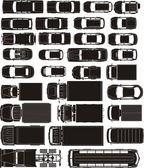 Fotografie Autos übersehen Silhouetten