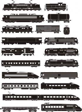 Train side silhouettes