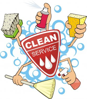 Clean service sign