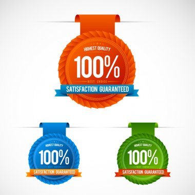 Colorful modern badge collection clip art vector