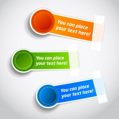Colorful badge sticker templates