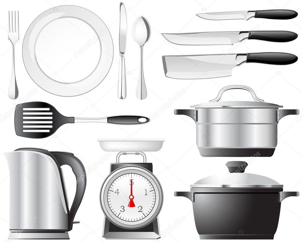 Kitchenware set stock vector lumumba 6238694 - Ustensile de cuisine beka ...