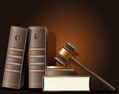Judge gavel and book of law