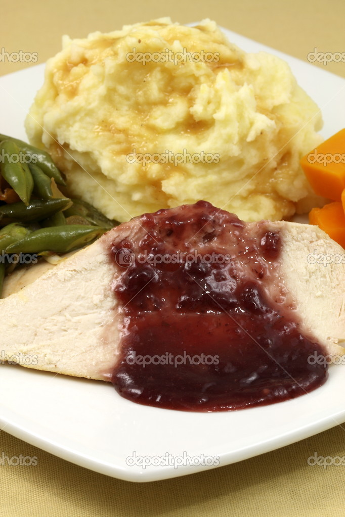 Delisious thanksgiving turkey breast diner