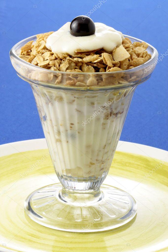 Delicious yogurt and granola