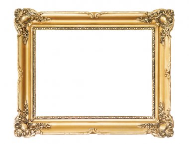 Wooden gold frame