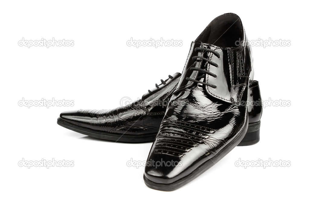 Elegant Shiny Black Dress Shoes Stock Photo Rangizzz 6117832