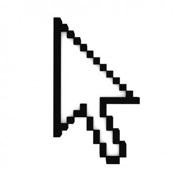 Mouse cursor icon, top view