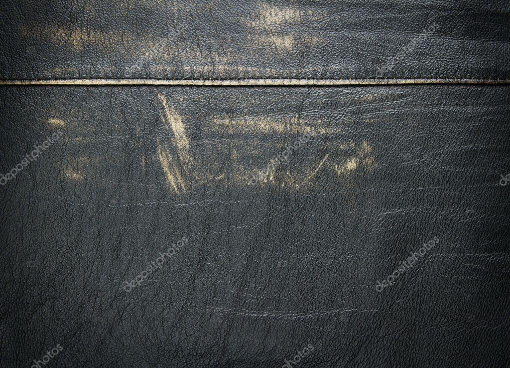 old grunge worn leather background � stock photo