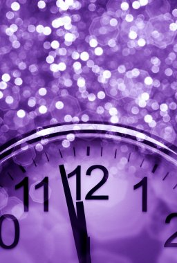 Purple New Year's abstract background