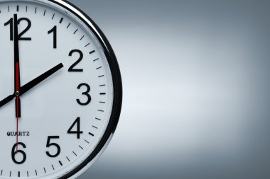 Clock background with copy space