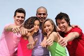 változatos tizenéves csoportja