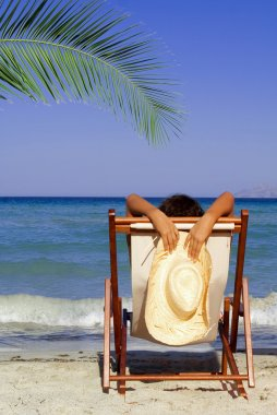 Summer beach vacation woman