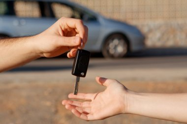 New car keys or car hire or rental