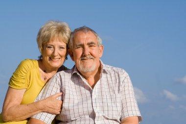 Elderly couple on vacation